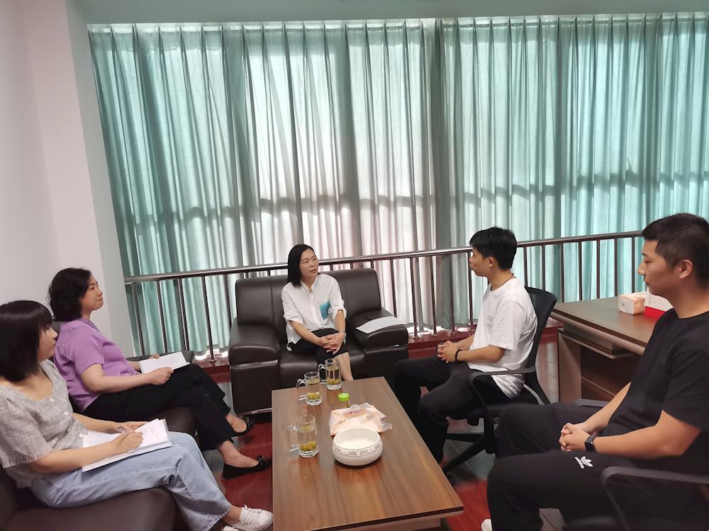 武陵区委常委、统战部长向艳艳走访调研归国留学生企业